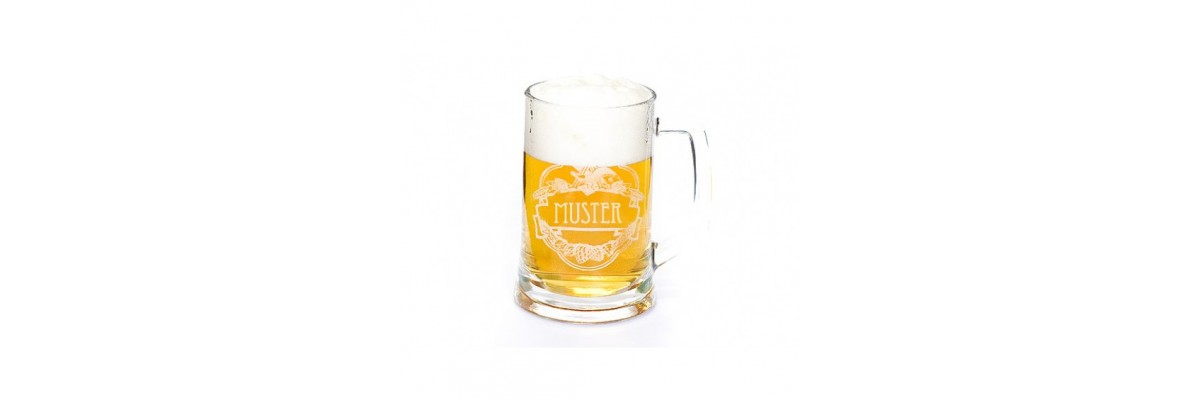 Glas Tankard with Engraving 0,5l